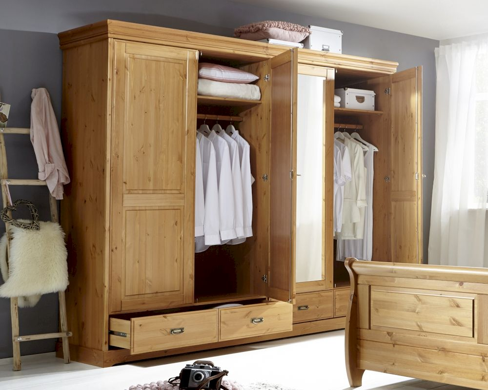 3s frankenm bel massivholz kleiderschrank roland bestellen bei m bel. Black Bedroom Furniture Sets. Home Design Ideas