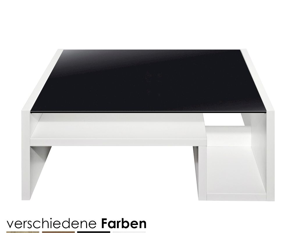artem couchtisch mit schwarzglasplatte bei. Black Bedroom Furniture Sets. Home Design Ideas