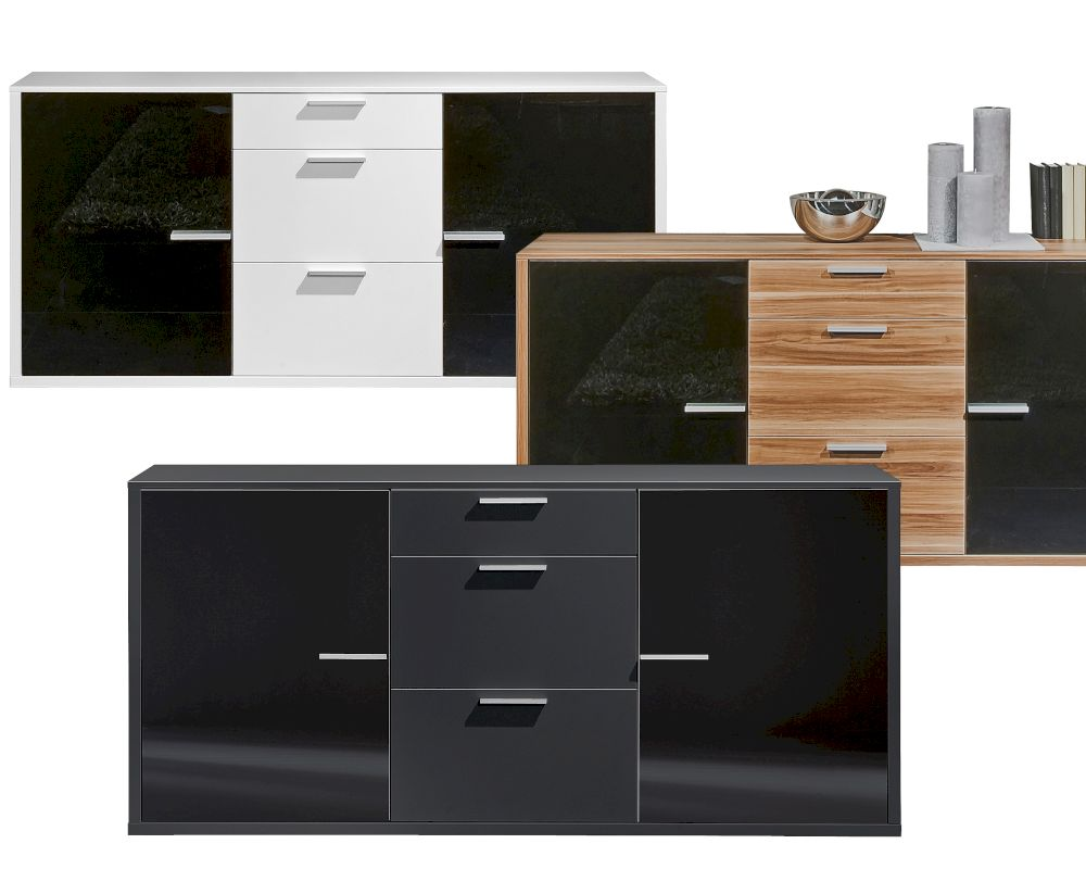 sideboard weiss glas machen sie den preisvergleich bei. Black Bedroom Furniture Sets. Home Design Ideas