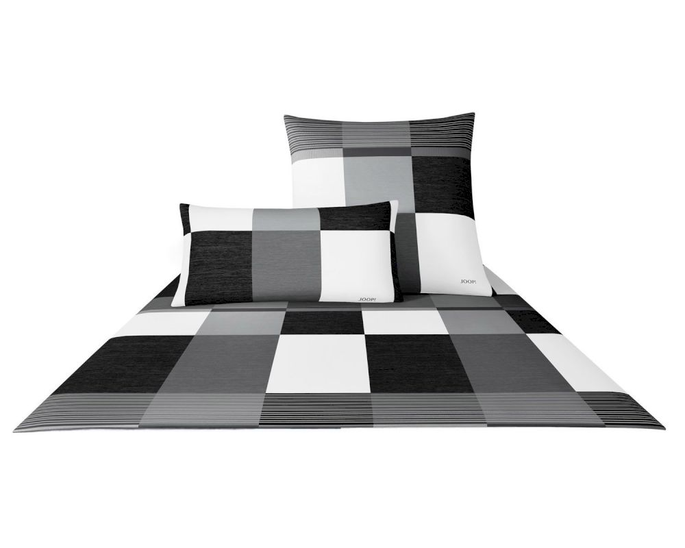 joop plaza squares bettw sche schwarzwei 4051 00. Black Bedroom Furniture Sets. Home Design Ideas