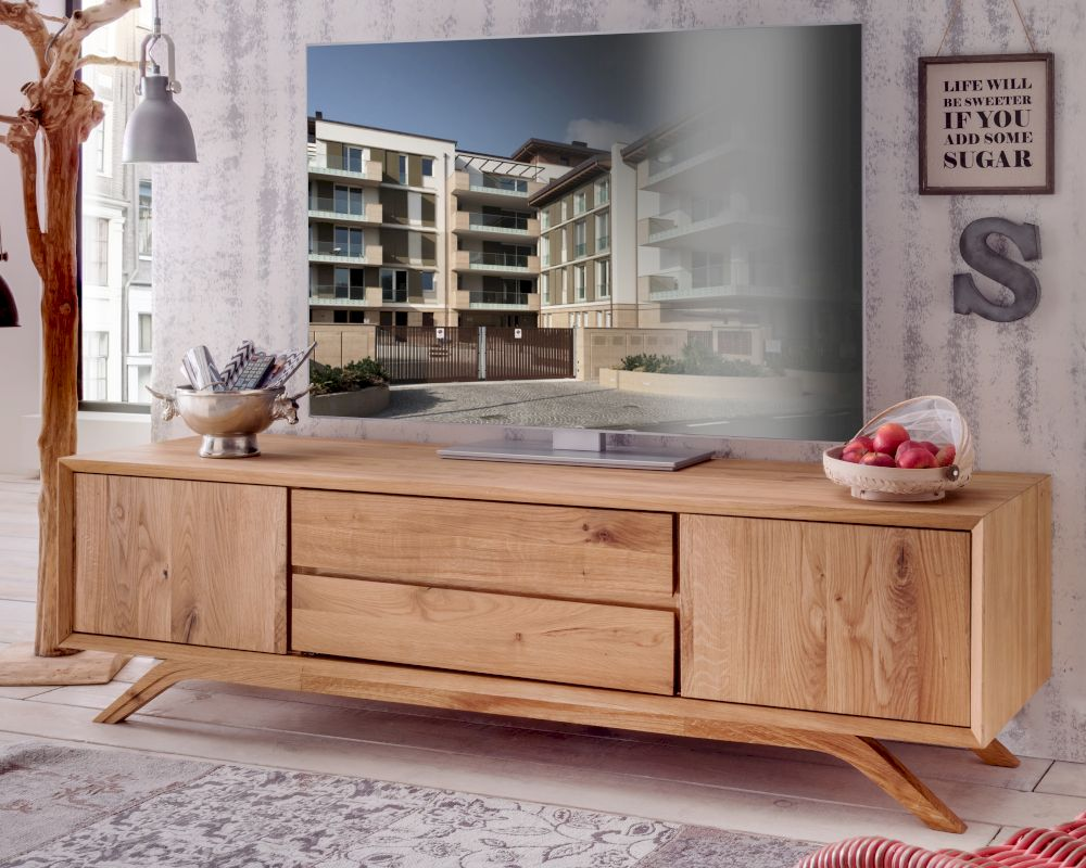 massivholz vegas wildeiche tv lowboard bei. Black Bedroom Furniture Sets. Home Design Ideas