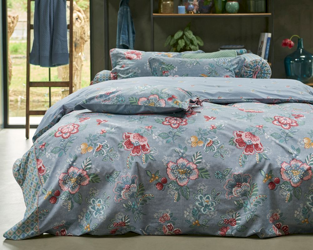 pip satin bettw sche berry bird blue bei. Black Bedroom Furniture Sets. Home Design Ideas