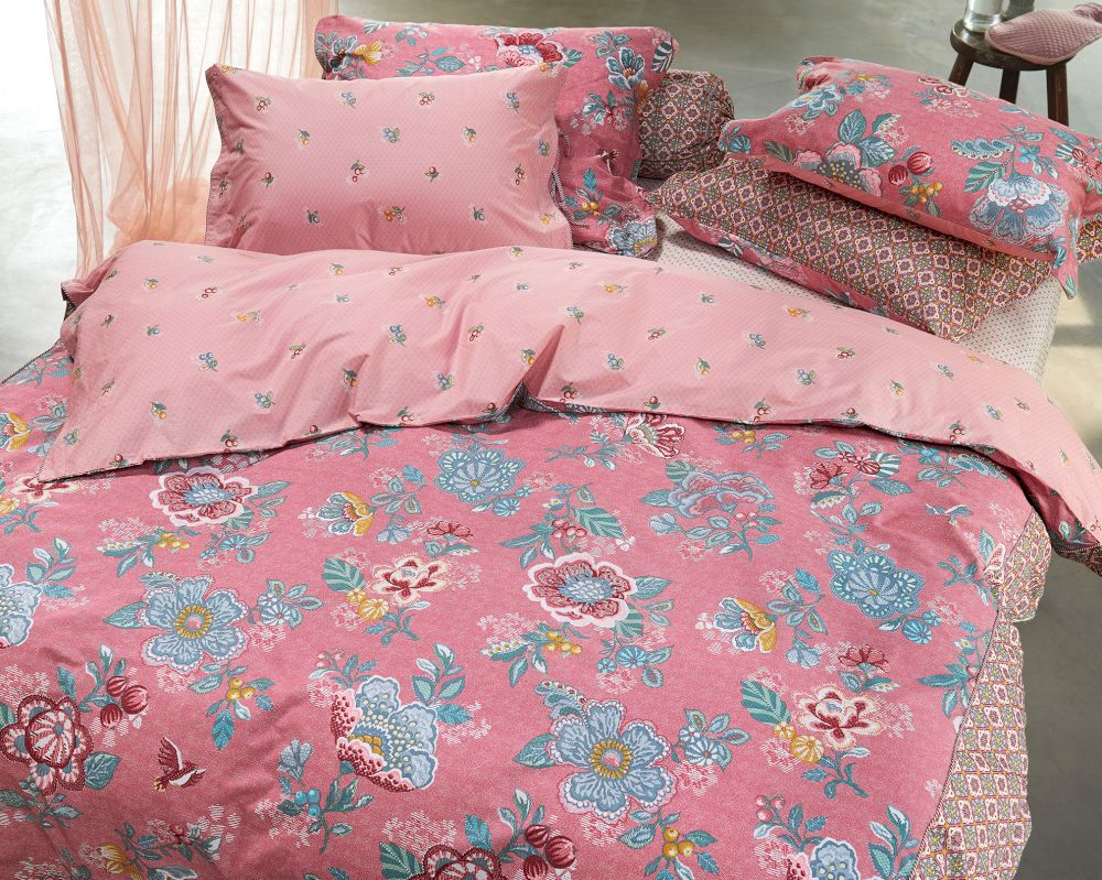 pip satin bettw sche berry bird pink bei. Black Bedroom Furniture Sets. Home Design Ideas