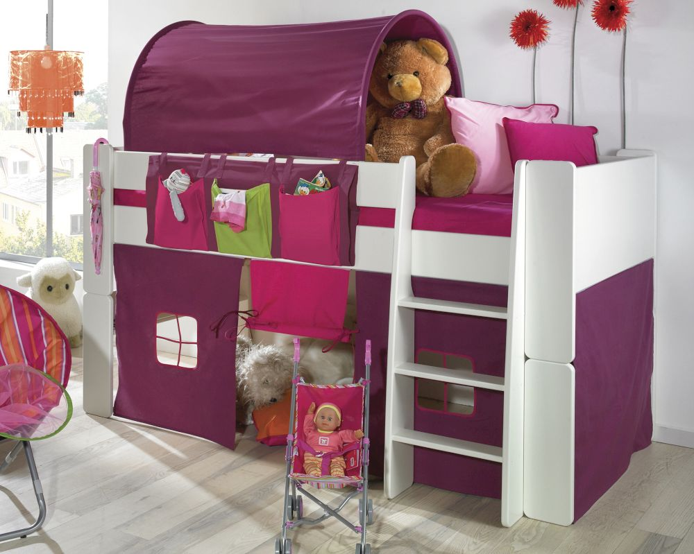 steens for kids hochbett massiv 50 weiss. Black Bedroom Furniture Sets. Home Design Ideas
