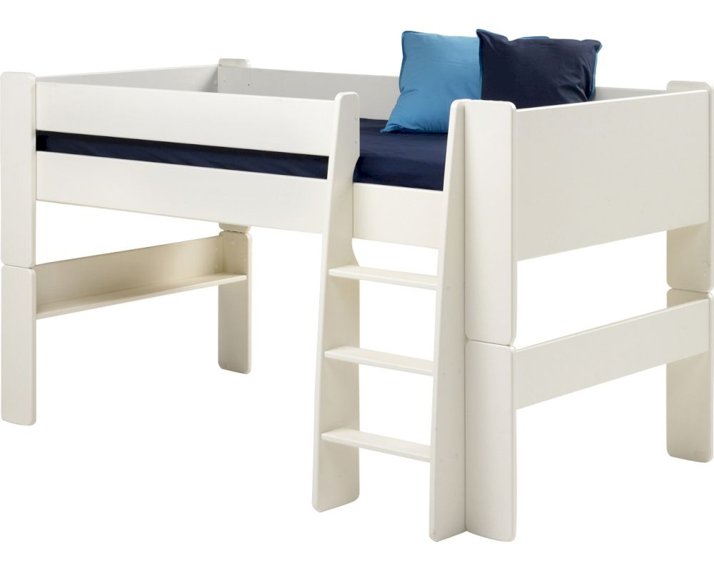 steens for kids hochbett massivholz 50 weiss. Black Bedroom Furniture Sets. Home Design Ideas
