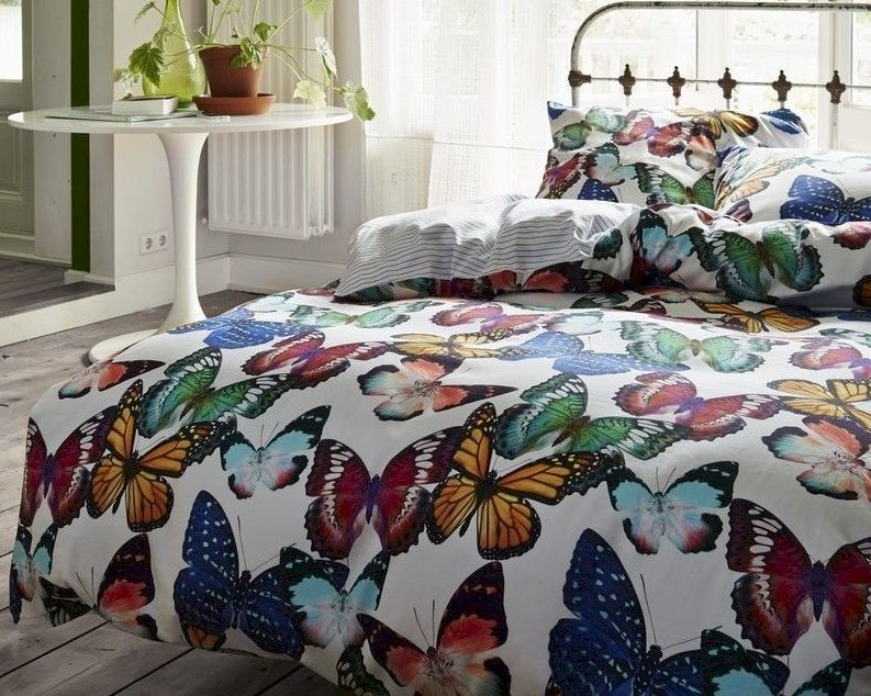 vanezza satin bettw sche butterflies bei. Black Bedroom Furniture Sets. Home Design Ideas
