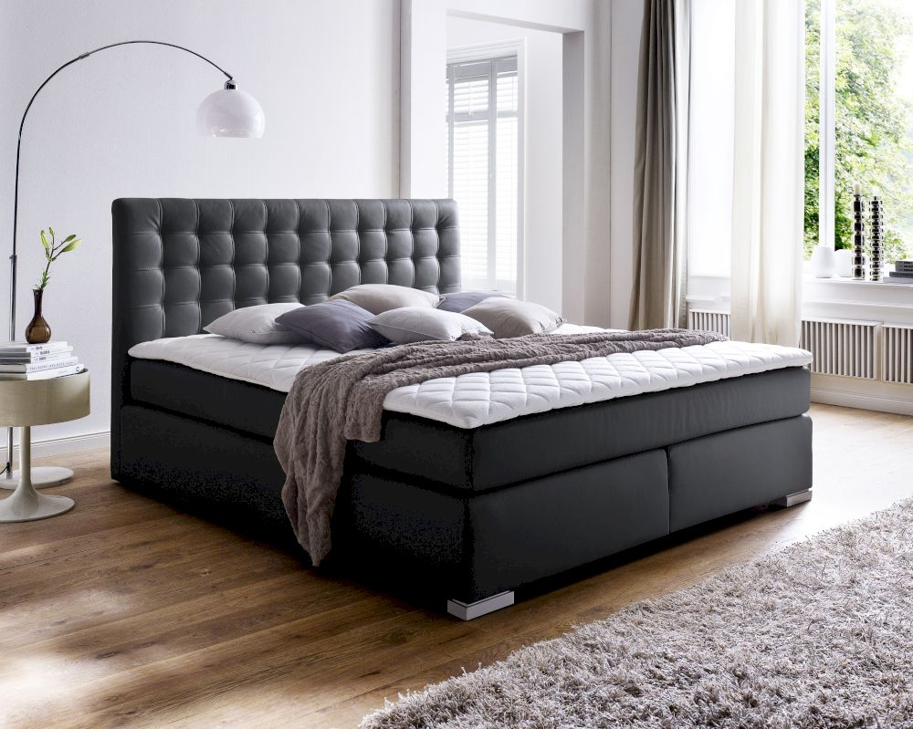 boxspringbett isa 200 x 200 cm preisvergleich. Black Bedroom Furniture Sets. Home Design Ideas