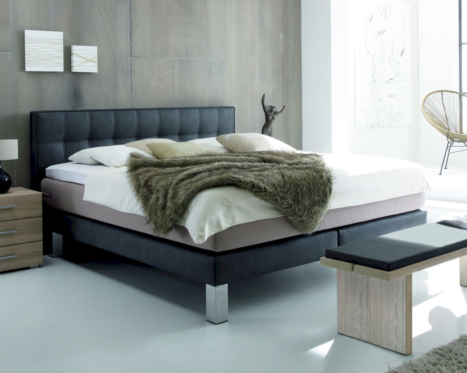 hasena boxspringbett modern comi lille l. Black Bedroom Furniture Sets. Home Design Ideas