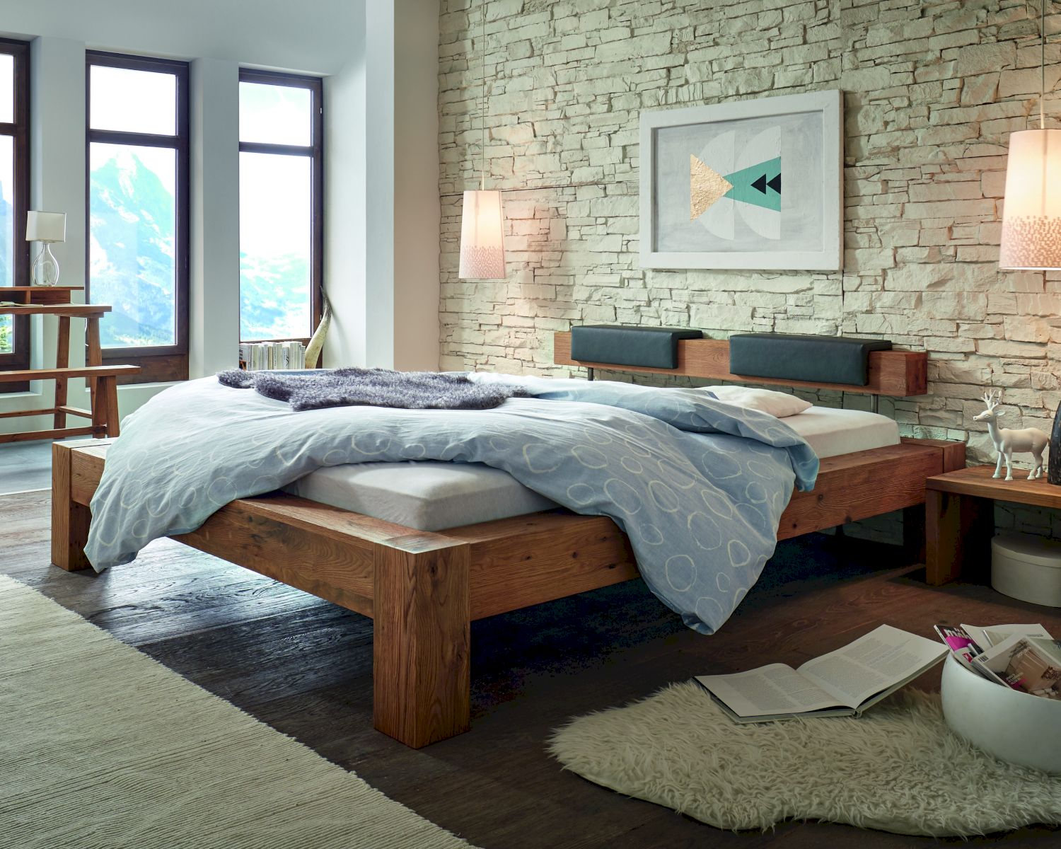 hasena oak line wild bett bormio cobobalco. Black Bedroom Furniture Sets. Home Design Ideas