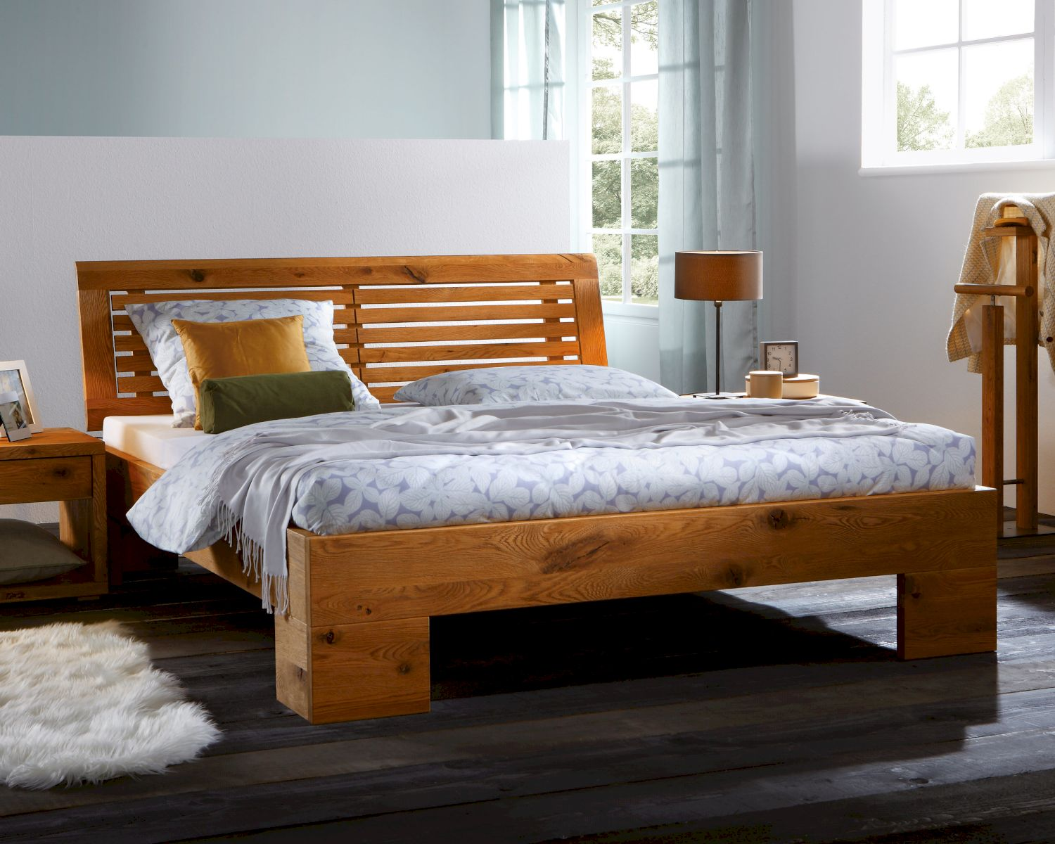 hasena oak line wild bett cadro covabarro. Black Bedroom Furniture Sets. Home Design Ideas