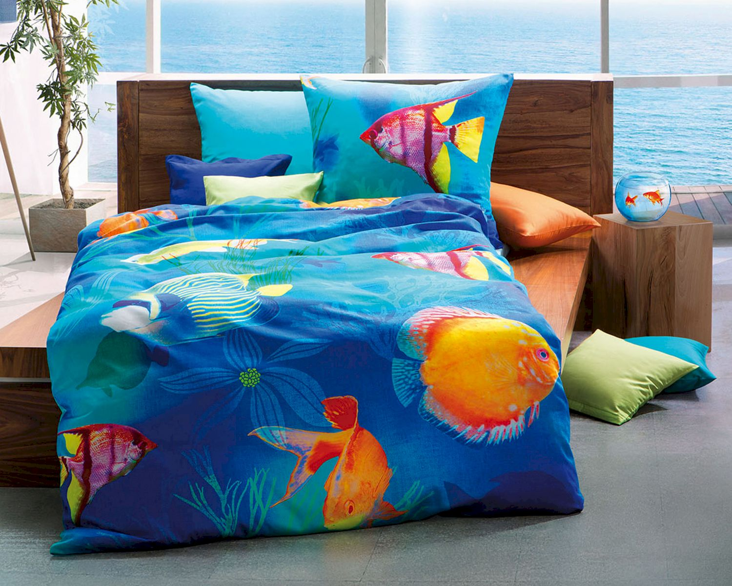 kaeppel mako bettw sche under the sea 558643. Black Bedroom Furniture Sets. Home Design Ideas