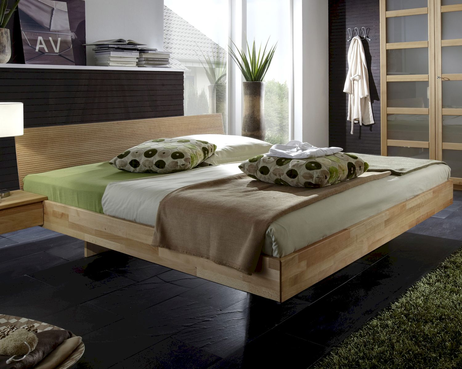 massivholz bett gamma schwebebett kaufen. Black Bedroom Furniture Sets. Home Design Ideas