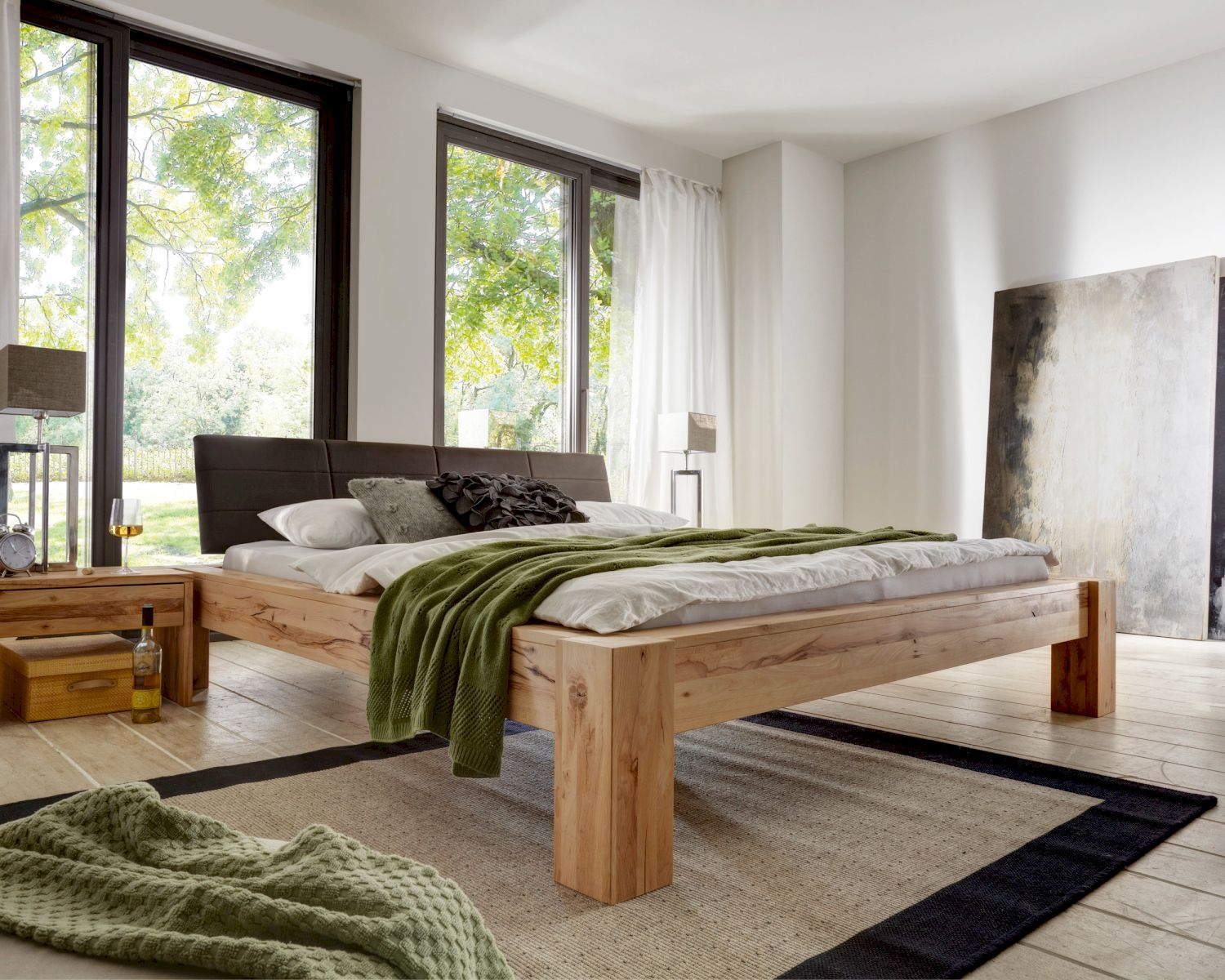 massivholz bett hercules erh ltlich bei. Black Bedroom Furniture Sets. Home Design Ideas