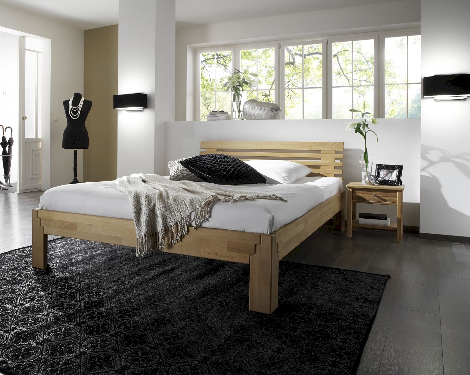 massivholz bett system z bestellen bei m bel. Black Bedroom Furniture Sets. Home Design Ideas