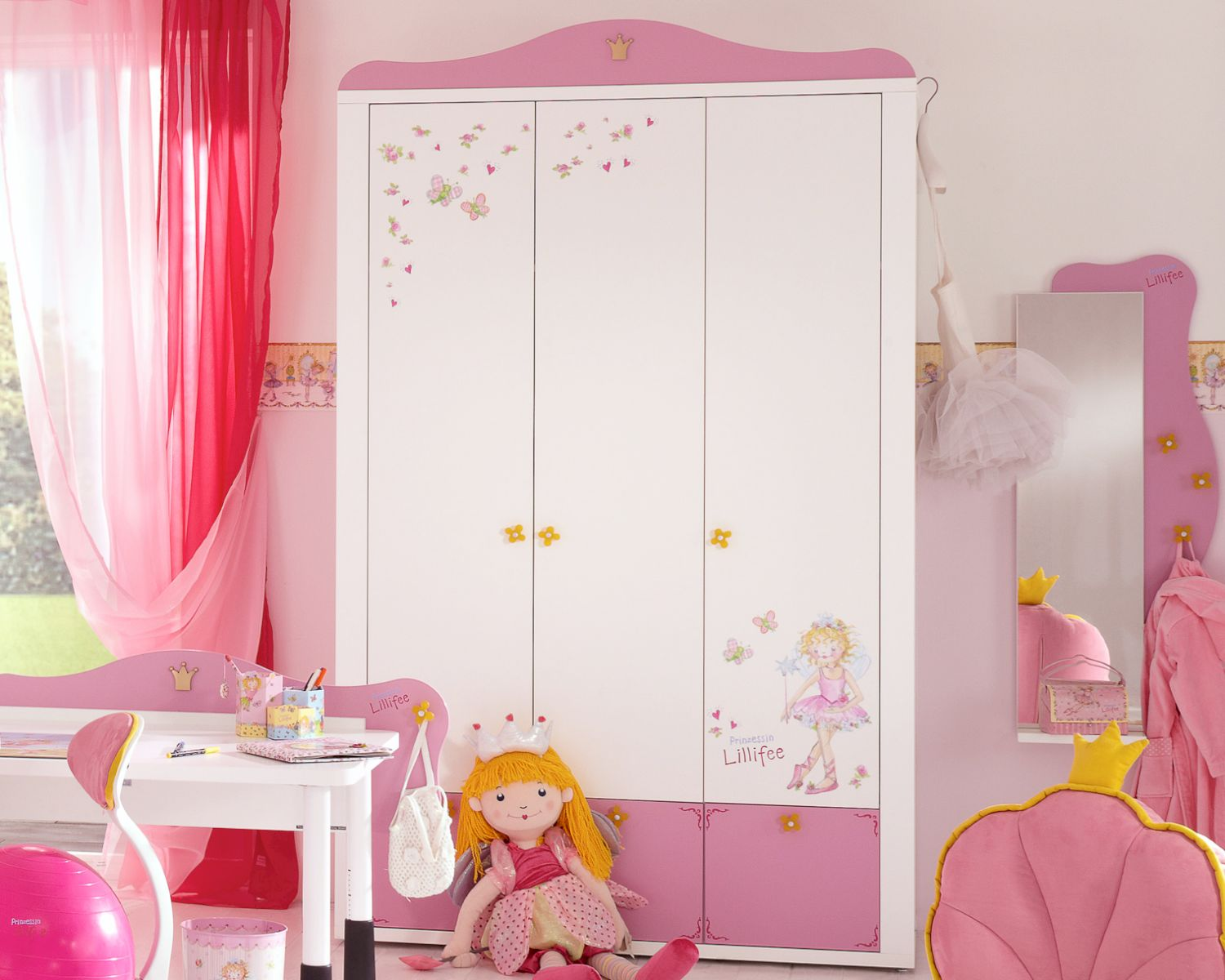 prinzessin lillifee kinderzimmer kleiderschrank. Black Bedroom Furniture Sets. Home Design Ideas