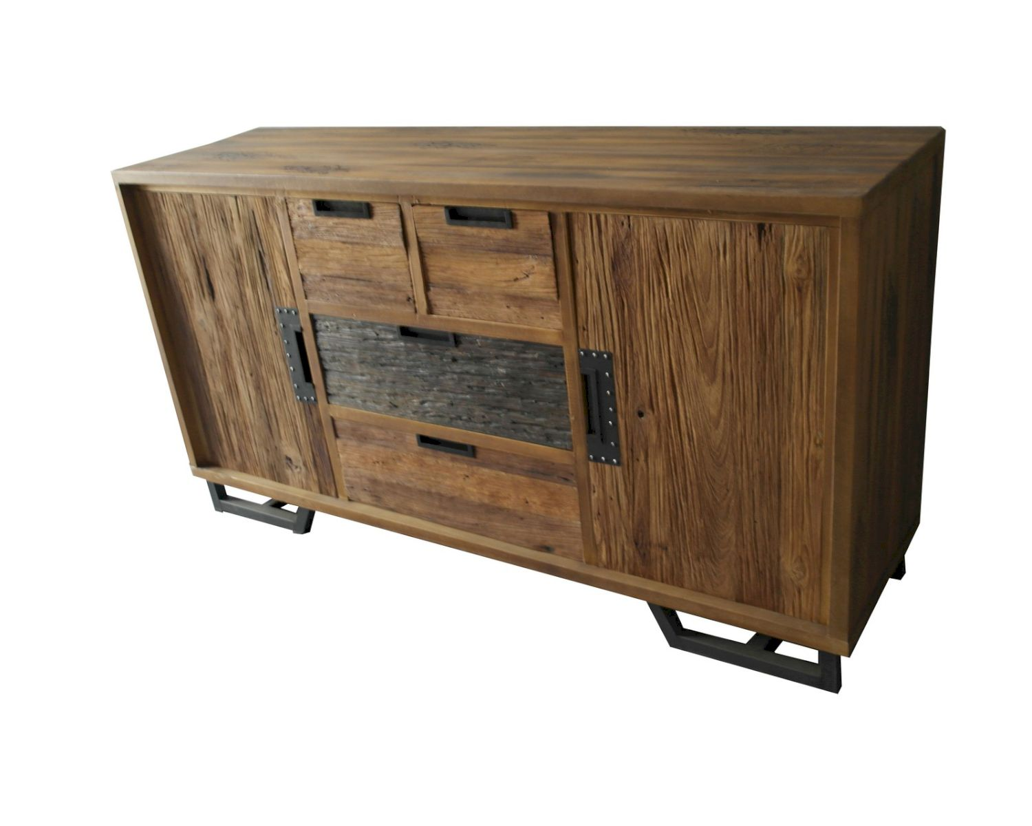 sit thalysa albesia und teak sideboard 4 schubladen 2 t ren. Black Bedroom Furniture Sets. Home Design Ideas