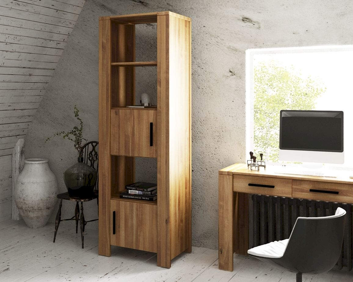 the beds cubic massivholz b cherregal schmal. Black Bedroom Furniture Sets. Home Design Ideas