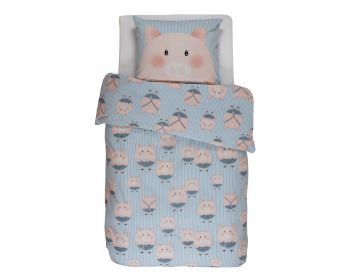 Covers & Co Renforce Bettwäsche Piggy Blue Artikelbild 6