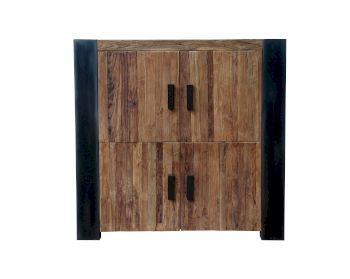 SIT Croco Teak Massivholz Highboard Artikelbild 6
