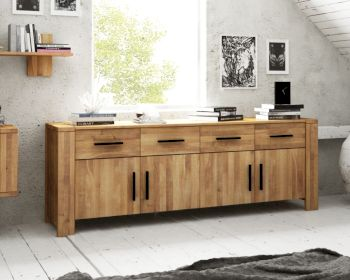 The Beds Cubic Massivholz Sideboard 4-Türig Artikelbild 6
