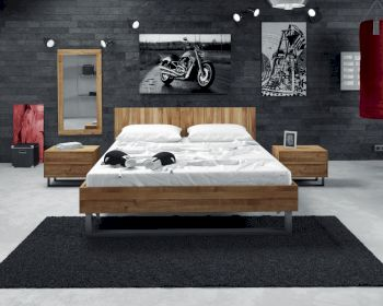 The Beds Steel Massivholz Bett Artikelbild 6