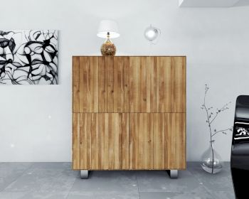 The Beds Steel Massivholz Highboard - 4 Türen Artikelbild 6