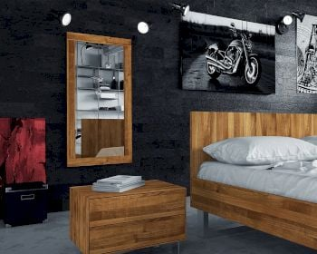 The Beds Steel Massivholz Wandspiegel Artikelbild 6