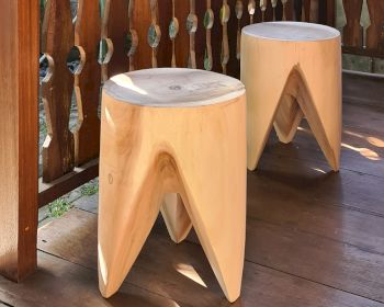 die Faktorei »Teeth« Holz-Hocker stapelbar Artikelbild 6
