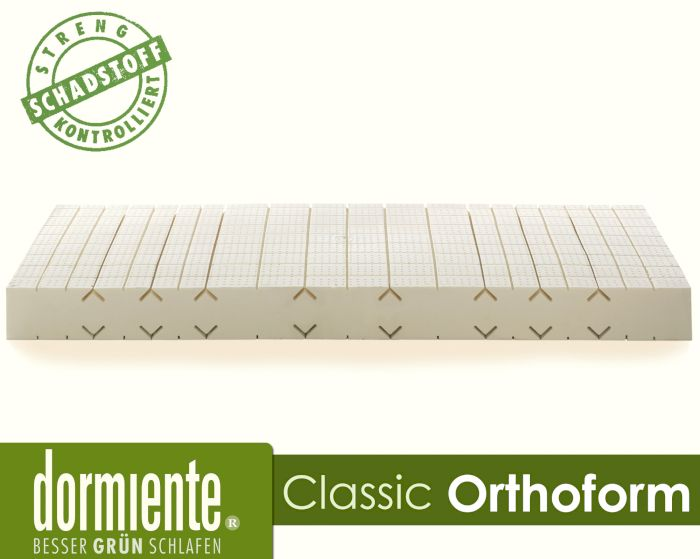 Produktbild - Dormiente Natural Classic Orthoform Latex-Matratzen